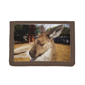 Sleepy Australian Kangaroo, Tri-fold Wallet
