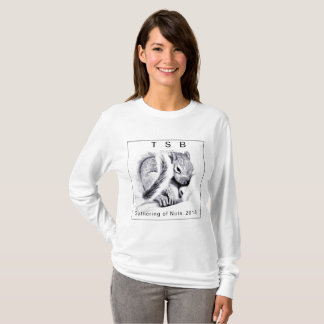 Sleepy baby squirrel design, with border T-Shirt