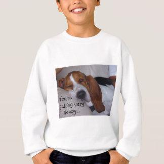 Sleepy Basset Hound Sweatshirt