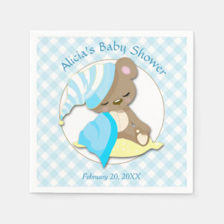 Sleepy Bear Boy Baby Shower