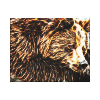 Sleepy Bear Canvas (20 x 16) by Gahr Graphics Gallery Wrapped Canvas