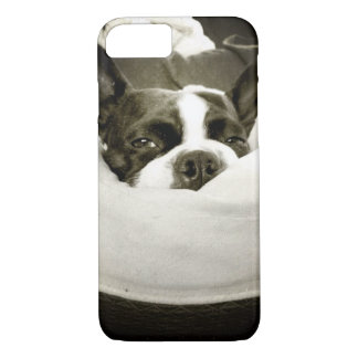 Sleepy Boston Terrier iPhone 7 Case
