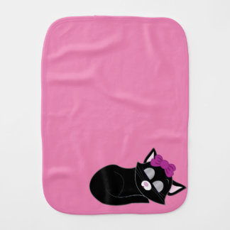 Sleepy Cat Burp Cloth