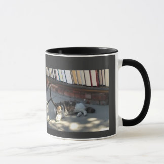 Sleepy cat mug