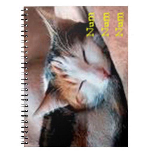 Sleepy Cat Spiral Note Book