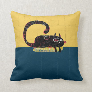 sleepy cat on pillow