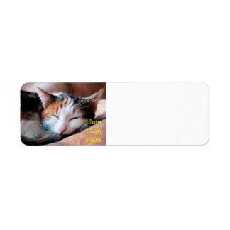 Sleepy Cat Return Address Label