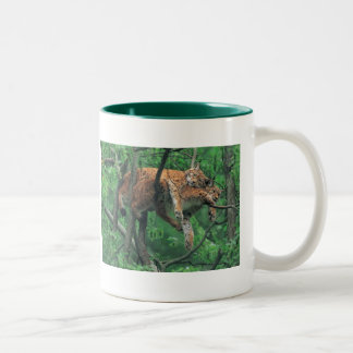 Sleepy Cats Two-Tone Coffee Mug