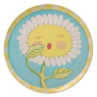 Sleepy Daisy Plate