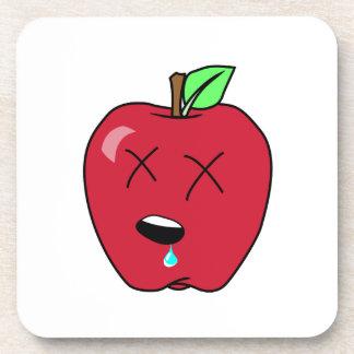Sleepy Drooling Red Apple Drink Coasters