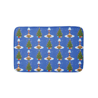 Sleepy Elf Christmas Bath Mat