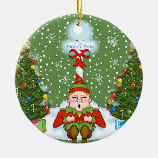 Sleepy Elf Christmas Ornament