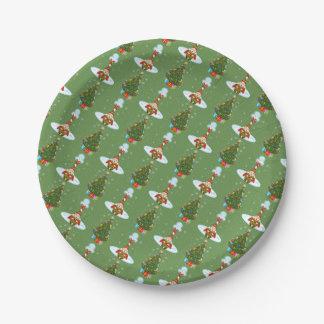 Sleepy Elf Christmas Paper Plates
