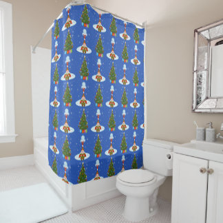 Sleepy Elf Christmas Shower Curtain