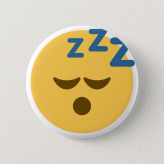 Sleepy Emoji 6 Cm Round Badge