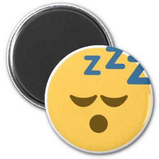 Sleepy Emoji 6 Cm Round Magnet