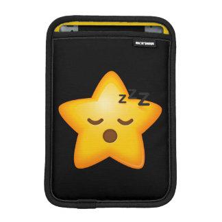 Sleepy Emoji Star iPad Mini Sleeve