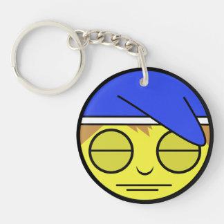 Sleepy Face Key Ring