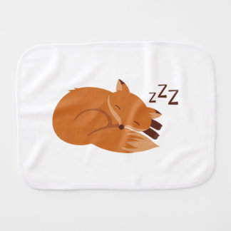 Sleepy Fox Burp Cloth