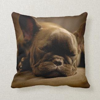 Sleepy French Bulldog Cushion