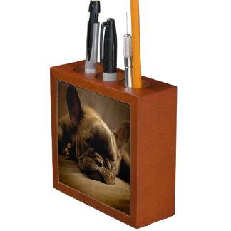 Sleepy French Bulldog Desk Organiser