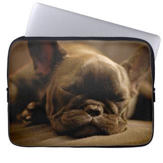 Sleepy French Bulldog Laptop Sleeve