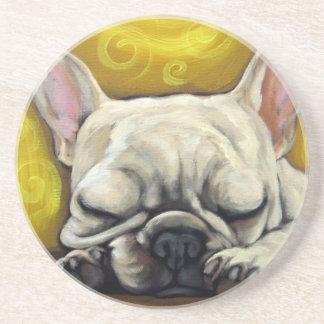 Sleepy Frenchie Coaster