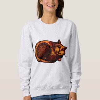 Sleepy Ginger Cat Women's Sweatshirt