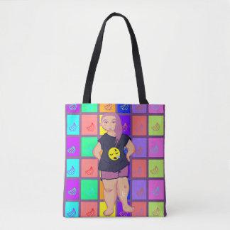 Sleepy girl tote bag