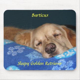 Sleepy Golden Retriever Mousepad
