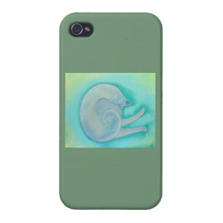 Sleepy Gray Cat. Covers For iPhone 4