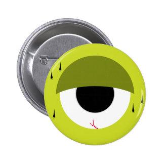 Sleepy Green Eye 6 Cm Round Badge