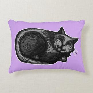 Sleepy Grey Cat Lavender Accent Pillow