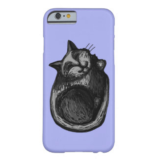 Sleepy Grey Cat Periwinkle iPhone 6/6s Case Barely There iPhone 6 Case