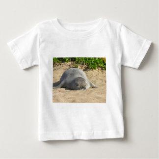 Sleepy Hawaiian Monk Seal Baby T-Shirt