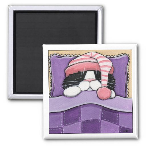 Sleepy Head - Cat Magnet