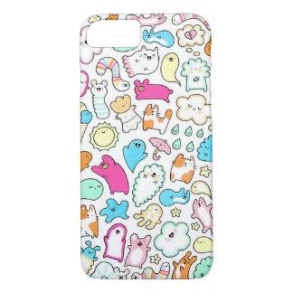 Sleepy head doodles iphone case