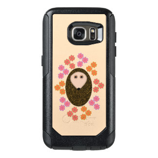 Sleepy Hedgehog and Flowers Phone Case