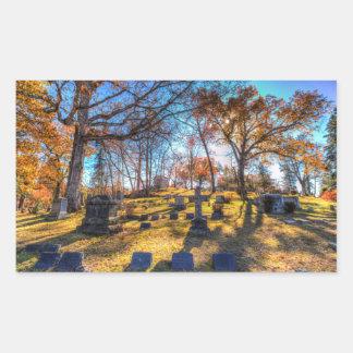 Sleepy Hollow Cemetery New York Rectangular Sticker