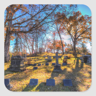 Sleepy Hollow Cemetery New York Square Sticker