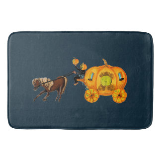 Sleepy Hollow Headless Horseman Pumpkin Carriage Bath Mat