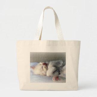 Sleepy Kitten Large Tote Bag