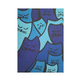 Sleepy Kitties Canvas Print