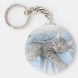 Sleepy Kitty Key Ring