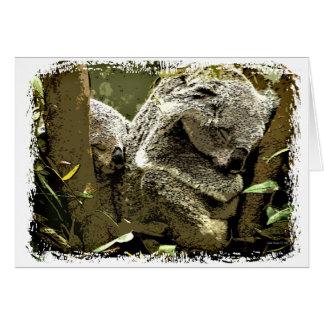 Sleepy Koalas Card