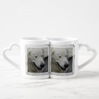 Sleepy Kuvasz Dog Couple Mugs