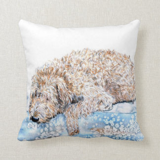 Sleepy Labradoodle Cushion