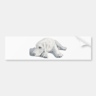 Sleepy Labradoodle Pup Bumper Sticker