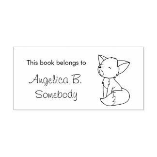 Sleepy Little Fox Bookplate Self-inking Stamp