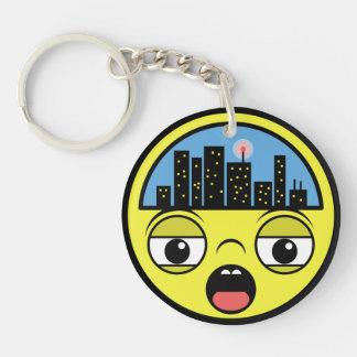 Sleepy Little Town Key Ring